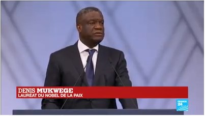 Brillante intervention du Dr Denis MUKWEGE